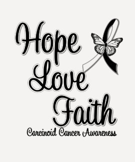 FE carcinoide del AMOR de la ESPERANZA del cáncer Remera