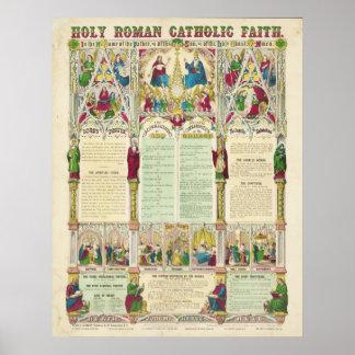 Fe católica santa por Haasis y Lubrecht Poster
