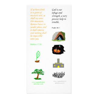 Fe como semilla de mostaza - tarjeta de KJV de la Tarjetas Fotograficas Personalizadas