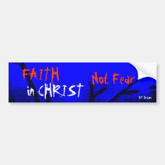 Fe cristiana en pegatina para el parachoques del m etiqueta de parachoque