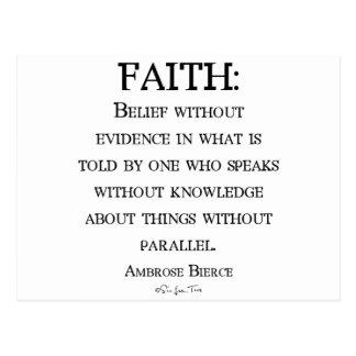 Fe de Ambrose Bierce Postales