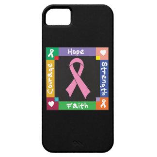 Fe de la fuerza de la esperanza del cáncer de iPhone 5 carcasas