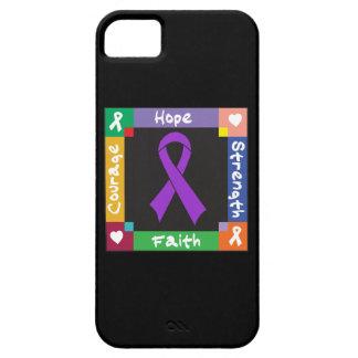 Fe de la fuerza de la esperanza del cáncer iPhone 5 carcasa