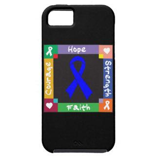 Fe de la fuerza de la esperanza del cáncer rectal funda para iPhone 5 tough