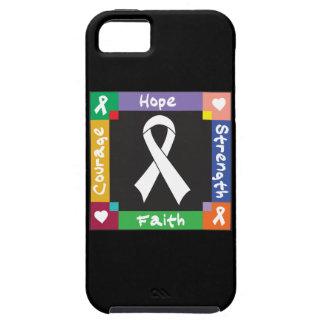 Fe de la fuerza de la esperanza del mesotelioma funda para iPhone 5 tough