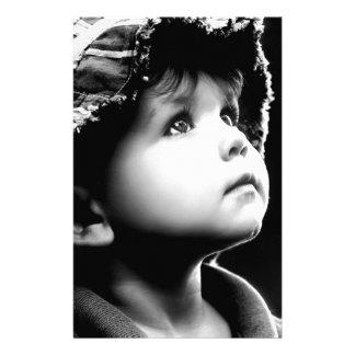 fe de un niño papelería personalizada