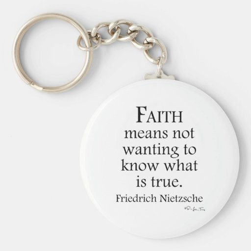 Fe definida por Nietzsche Llavero