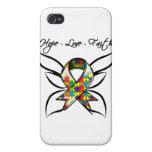 Fe del amor de la esperanza de la conciencia del a iPhone 4 protector