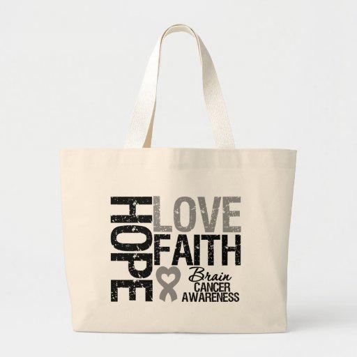 Fe del amor de la esperanza de la conciencia del c bolsa tela grande