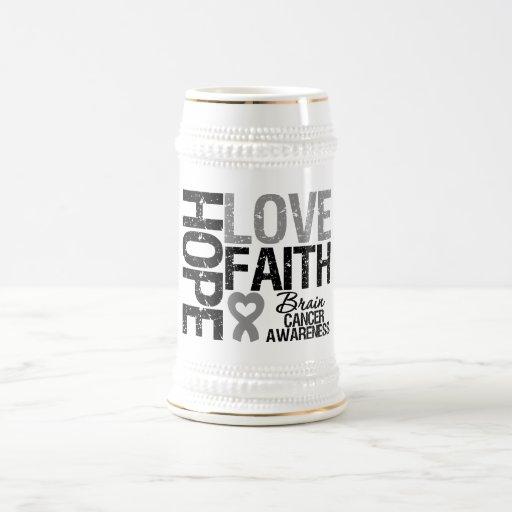 Fe del amor de la esperanza de la conciencia del c jarra de cerveza