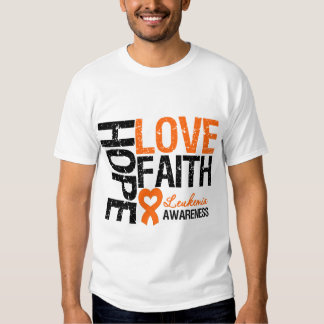 Fe del amor de la esperanza de la leucemia poleras
