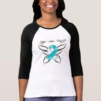 Fe del amor de la esperanza del cáncer de cuello playera