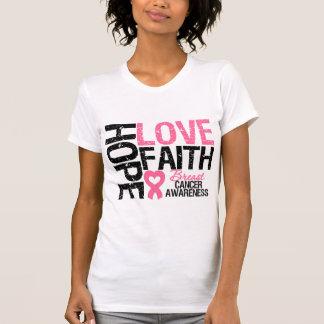 Fe del amor de la esperanza del cáncer de pecho camisetas