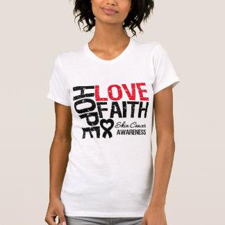 Fe del amor de la esperanza del cáncer de piel camiseta