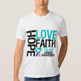 Fe del amor de la esperanza del cáncer de tiroides playeras