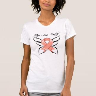 Fe del amor de la esperanza del cáncer endometrial camisetas