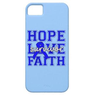 Fe del amor de la esperanza del cáncer rectal iPhone 5 cobertura