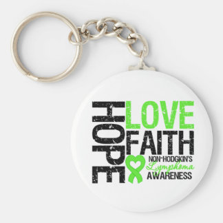 Fe del amor de la esperanza del linfoma Non-Hodgki Llavero Redondo Tipo Pin
