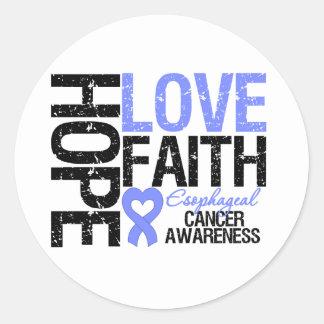 Fe del esófago del amor de la esperanza del cáncer pegatina redonda