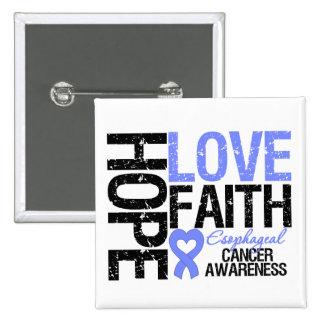 Fe del esófago del amor de la esperanza del cáncer pin