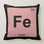 FE - Elemento del símbolo de la tabla periódica de Cojines