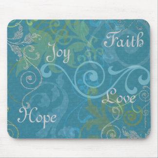 Fe esperanza alegría amor tapete de ratón