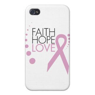 Fe, esperanza, amor - ayuda del cáncer de pecho iPhone 4/4S funda