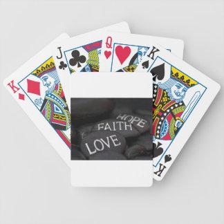 Fe, esperanza, amor baraja de cartas