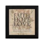 Fe, esperanza, amor cajas de regalo
