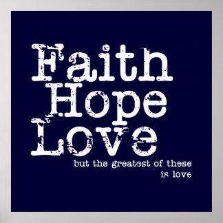 Fe esperanza amor posters