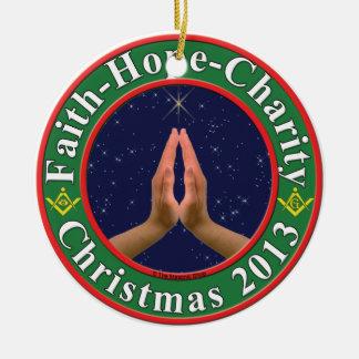 Fe, esperanza, caridad, Freemasons Adornos