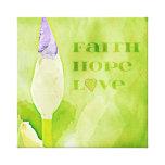 Fe, esperanza, iris del amor impresión en lona estirada