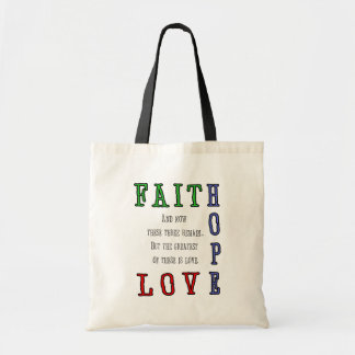 Fe, esperanza, la bolsa de asas del amor