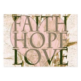 Fe, esperanza y amor tarjetas de visita grandes
