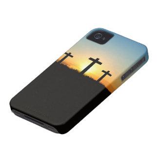 Fe, esperanza, y cruz del Jesucristo del amor Funda Para iPhone 4 De Case-Mate