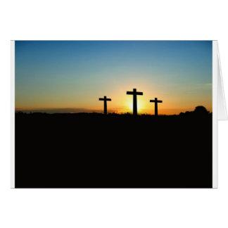 Fe, esperanza, y cruz del Jesucristo del amor Felicitación