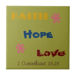 ¡Fe fabulosa de la teja esperanza verso del amor