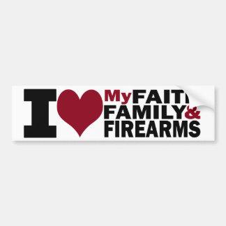 Fe, familia y pegatina para el parachoques de las  pegatina para auto