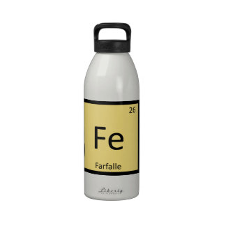 Fe - Farfalle Chemistry Periodic Table Symbol Reusable Water Bottles