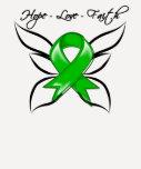 Fe hepática del amor de la esperanza del cáncer camisetas