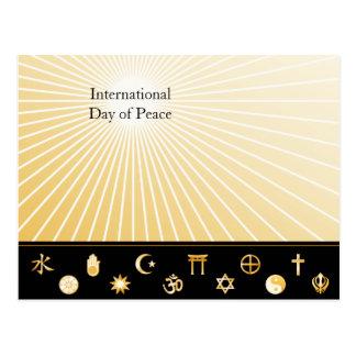Fe internacional tarjeta postal