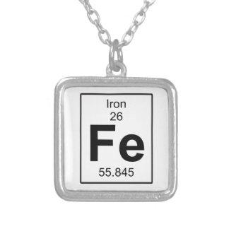 Fe - Iron Square Pendant Necklace