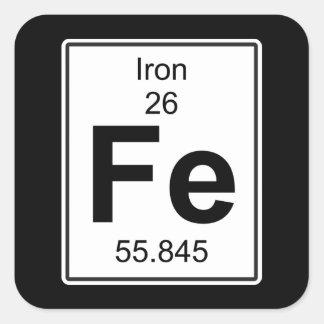 Fe - Iron Square Sticker