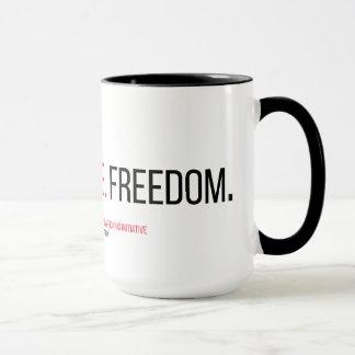 Fe. Justicia. Libertad. 15 onzas. Taza