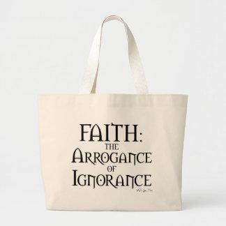 Fe - la arrogancia de la ignorancia bolsa tela grande