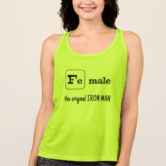 Fe male sports pun iron element tank top