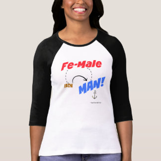 Fe-Males ARE Iron Men. T-Shirt
