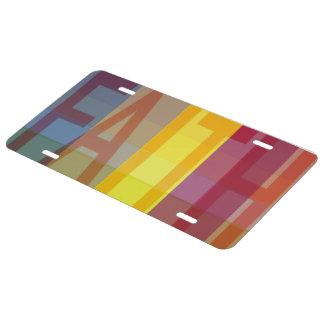 Fe multicolora placa de matrícula