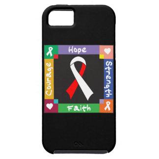 Fe oral de la fuerza de la esperanza del cáncer iPhone 5 fundas