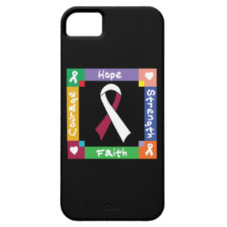 Fe principal de la fuerza de la esperanza del funda para iPhone 5 barely there